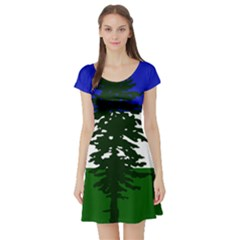 Flag 0f Cascadia Short Sleeve Skater Dress