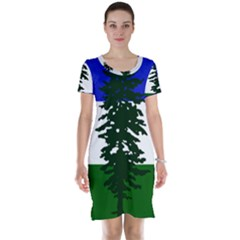 Flag 0f Cascadia Short Sleeve Nightdress