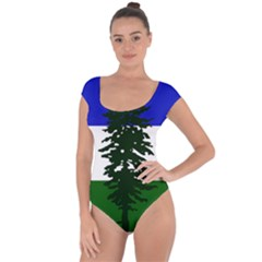 Flag 0f Cascadia Short Sleeve Leotard