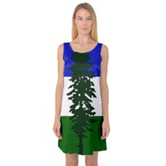 Flag 0f Cascadia Sleeveless Satin Nightdress