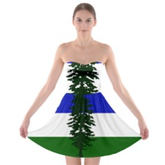 Flag 0f Cascadia Strapless Bra Top Dress