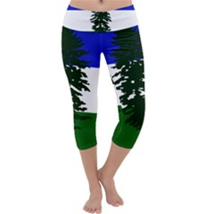 Flag 0f Cascadia Capri Yoga Leggings