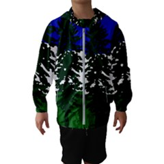 Flag 0f Cascadia Hooded Wind Breaker (kids)