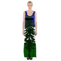 Flag 0f Cascadia Maxi Thigh Split Dress