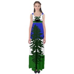 Flag 0f Cascadia Empire Waist Maxi Dress