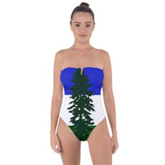 Flag 0f Cascadia Tie Back One Piece Swimsuit