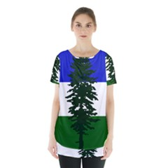 Flag 0f Cascadia Skirt Hem Sports Top