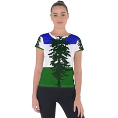 Flag 0f Cascadia Short Sleeve Sports Top