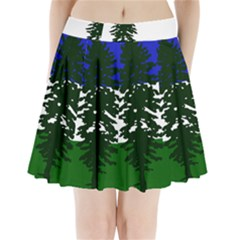 Flag 0f Cascadia Pleated Mini Skirt