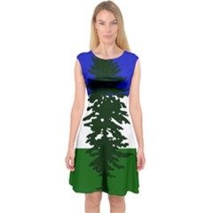 Flag 0f Cascadia Capsleeve Midi Dress