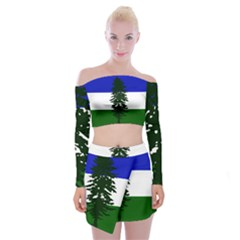 Flag 0f Cascadia Off Shoulder Top With Mini Skirt Set