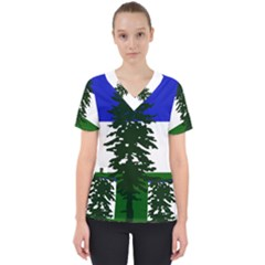 Flag 0f Cascadia Scrub Top