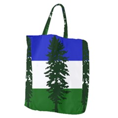 Flag 0f Cascadia Giant Grocery Zipper Tote