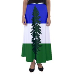 Flag 0f Cascadia Flared Maxi Skirt
