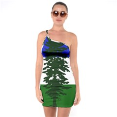 Flag 0f Cascadia One Soulder Bodycon Dress
