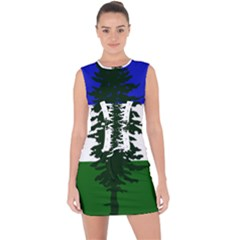 Flag 0f Cascadia Lace Up Front Bodycon Dress