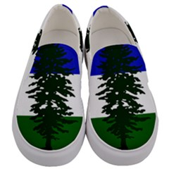 Flag 0f Cascadia Men s Canvas Slip Ons