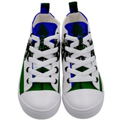 Flag 0f Cascadia Kid s Mid Top Canvas Sneakers