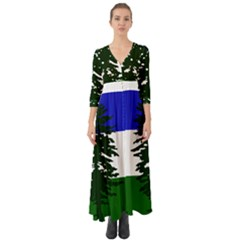 Flag 0f Cascadia Button Up Boho Maxi Dress