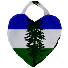 Flag 0f Cascadia Giant Heart Shaped Tote