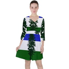 Flag 0f Cascadia Ruffle Dress