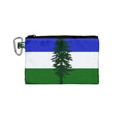 Flag 0f Cascadia Canvas Cosmetic Bag (small)