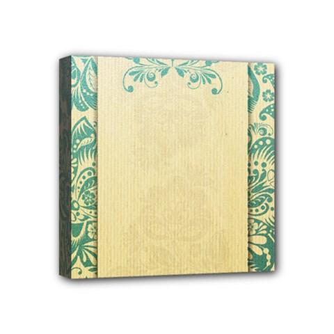 Art Nouveau Green Mini Canvas 4  X 4