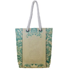 Art Nouveau Green Full Print Rope Handle Tote (small)