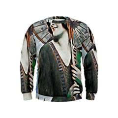 Lady Of Summer 1920 Art Deco Kids  Sweatshirt