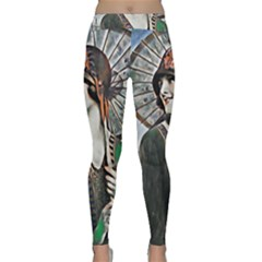 Lady Of Summer 1920 Art Deco Classic Yoga Leggings