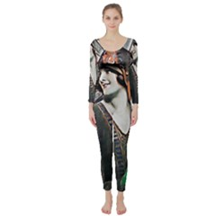 Lady Of Summer 1920 Art Deco Long Sleeve Catsuit