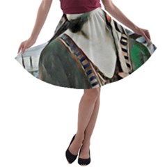Lady Of Summer 1920 Art Deco A Line Skater Skirt