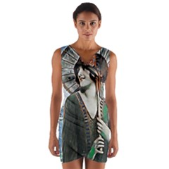 Lady Of Summer 1920 Art Deco Wrap Front Bodycon Dress