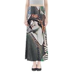 Lady Of Summer 1920 Art Deco Full Length Maxi Skirt