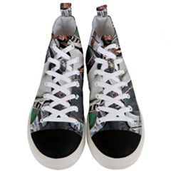 Lady Of Summer 1920 Art Deco Men s Mid Top Canvas Sneakers