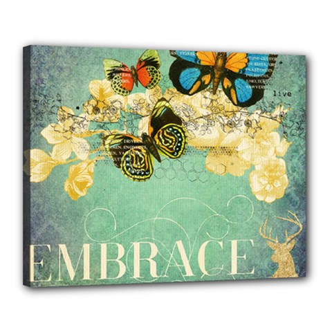 Embrace Shabby Chic Collage Canvas 20  X 16