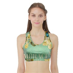 Embrace Shabby Chic Collage Sports Bra With Border