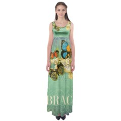 Embrace Shabby Chic Collage Empire Waist Maxi Dress