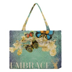 Embrace Shabby Chic Collage Medium Tote Bag