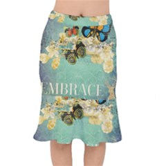 Embrace Shabby Chic Collage Mermaid Skirt