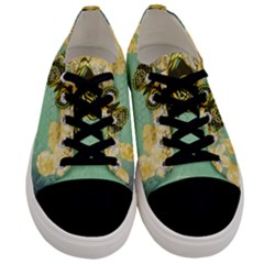 Embrace Shabby Chic Collage Men s Low Top Canvas Sneakers