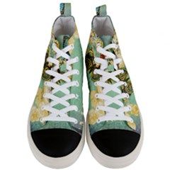 Embrace Shabby Chic Collage Men s Mid Top Canvas Sneakers