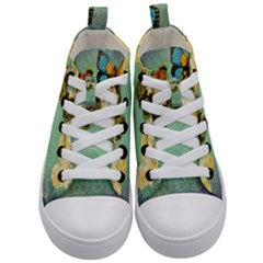 Embrace Shabby Chic Collage Kid s Mid Top Canvas Sneakers