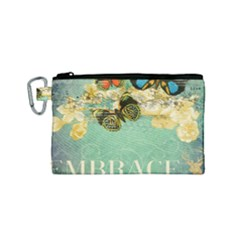 Embrace Shabby Chic Collage Canvas Cosmetic Bag (small)