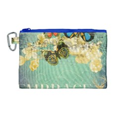 Embrace Shabby Chic Collage Canvas Cosmetic Bag (large)