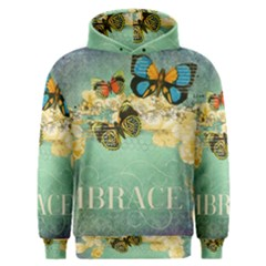 Embrace Shabby Chic Collage Men s Overhead Hoodie