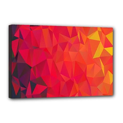 Triangle Geometric Mosaic Pattern Canvas 18  X 12