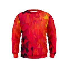 Triangle Geometric Mosaic Pattern Kids  Sweatshirt