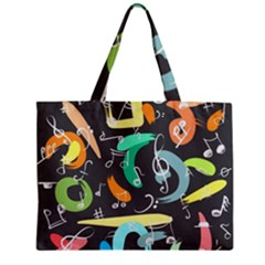 Repetition Seamless Child Sketch Zipper Mini Tote Bag