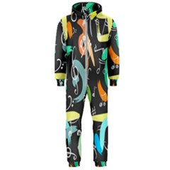 Repetition Seamless Child Sketch Hooded Jumpsuit (men)
